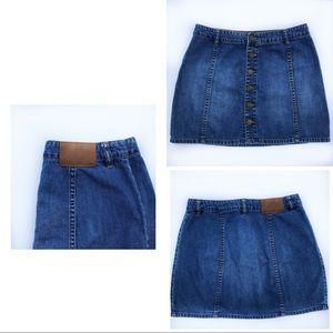 Billabong- High Waist Jean Skirt- 0019
